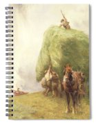 Roping The Wagon Spiral Notebook