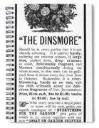 Rose Advertisement, 1890 Spiral Notebook