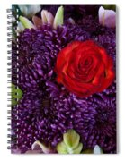 Rose Center Of Attention Spiral Notebook