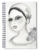 Rose Flapper Spiral Notebook