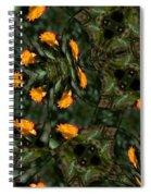 Rose Kaleidoscopic Mirror  Spiral Notebook