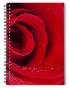 Rose Macro Wet 1 C Spiral Notebook