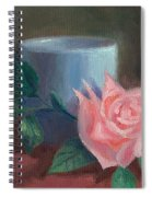 Rose With Blue Cup Spiral Notebook