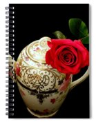Rose With China Teapot Spiral Notebook