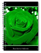Rose With Green Coloring Added Spiral Notebook