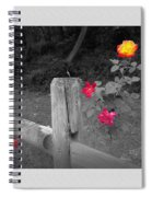Roses And Fence Spiral Notebook