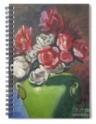 Roses And Green Vase Spiral Notebook