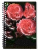 Roses In The Rain Spiral Notebook