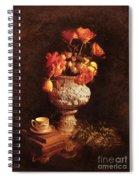 Roses In Urn Spiral Notebook