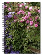 Roses On The Fence Spiral Notebook