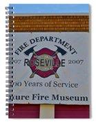 Roseville Fire Department Museum Spiral Notebook