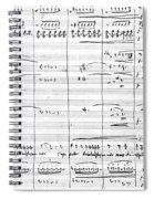 Rossini Manuscript Page Spiral Notebook