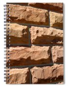 Rough Hewn Sandstone Brick Wall Of A Historic Building Spiral Notebook