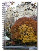 Round Autumn Trees Spiral Notebook