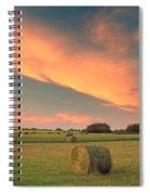 Round Hay Bales Spiral Notebook