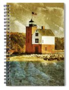 Round Island Lighthouse Spiral Notebook