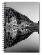 Round The Bend Buffalo River In Black And White Spiral Notebook