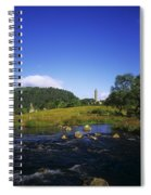 Round Tower And River In The Forest Spiral Notebook