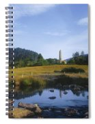 Round Tower In The Forest Glendalough Spiral Notebook