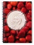 Round Tray Of Strawberries  Spiral Notebook