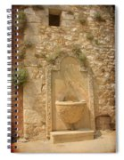 Roussillon Fountain Spiral Notebook