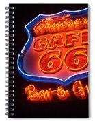 Route 66 Bar And Grill Spiral Notebook