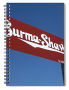 Route 66 Burma Shave Spiral Notebook