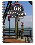 Route 66 - Chain Of Rocks Bridge And Gas Pump Spiral Notebook