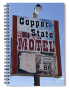 Route 66 Copper State Motel Spiral Notebook