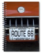 Route 66 Corvette Grill Spiral Notebook