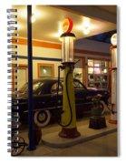 Route 66 Garage At Night Spiral Notebook
