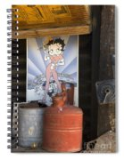 Route 66 Garage Interior Spiral Notebook