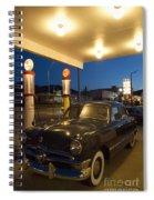 Route 66 Garage Scene Spiral Notebook