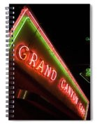 Route 66 Grand Canyon Neon Spiral Notebook