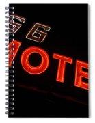Route 66 Motel Neon Spiral Notebook