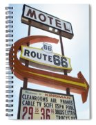 Route 66 Motel Sign 1 Spiral Notebook