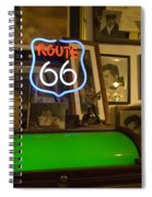 Route 66 Neon Sign 1 Spiral Notebook