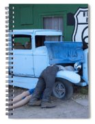 Route 66 Repair Shop Spiral Notebook