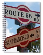 Route 66 Street Sign Spiral Notebook