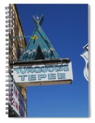 Route 66 Turquoise Tepee Spiral Notebook