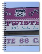 Route 66 Twisters Sign Spiral Notebook