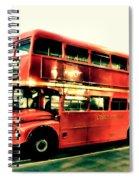 Routemaster Retro Pop Art  Spiral Notebook