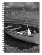Row Boat On The Shore Of Lake Ontario In Toronto Spiral Notebook