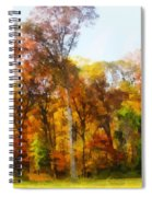 Row Of Autumn Trees Spiral Notebook