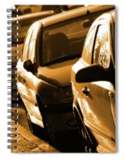 Row Of Cars Spiral Notebook