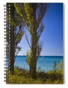 Row Of Cypress Trees At Point Betsie In Michigan No.0924 Spiral Notebook