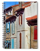 Row Of Houses In Arles Provence Spiral Notebook