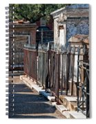 Row Of Tombs St Louis One Cemetery New Orleans Spiral Notebook