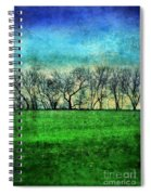 Row Of Trees Spiral Notebook