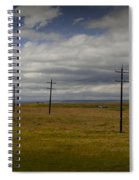 Row Of Utility Poles On The Prairie Spiral Notebook